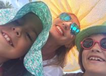 Children and yellow hat