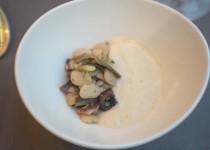 Piatto Fagioli a formella e polpo arrosto con carciofi